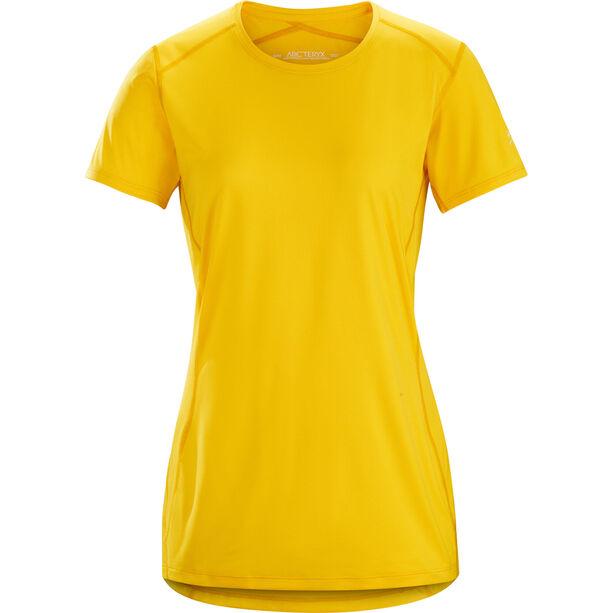 Arc'teryx Phase SL SS Rundhalsshirt Damen golden poppy