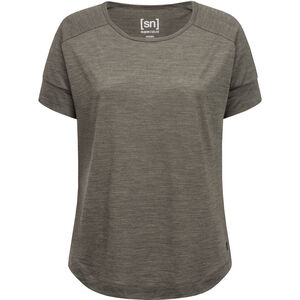 super.natural Isla T-Shirt Damen killer khaki melange killer khaki melange