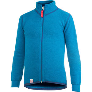 Woolpower 400 Full-Zip Jacket Kinder dolphin blue dolphin blue