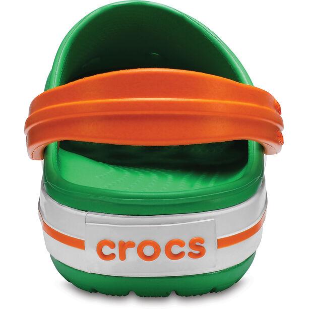 Crocs Crocband Clogs Kinder grass green/white/blazing orange