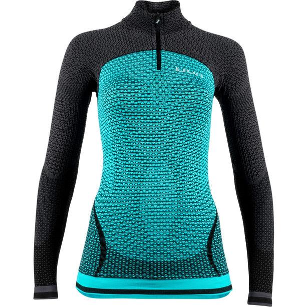 UYN Running Alpha OW Zip-Up Langarmshirt Damen green jewel/charcoal
