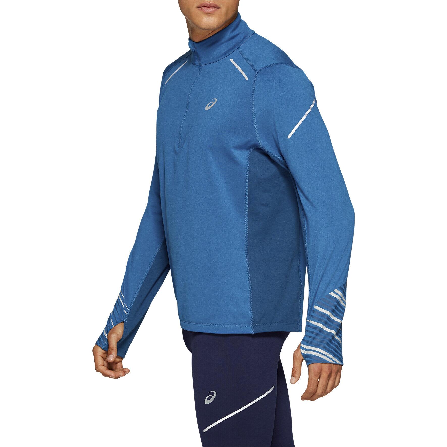 Asics Liteshow Mens Blue Half Zip Long Sleeve Running