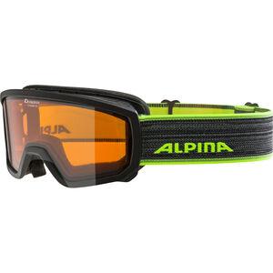 Alpina Scarabeo Doubleflex S2 Goggles Kinder black-neon black-neon