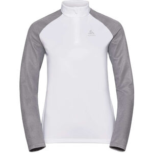Odlo Planches Half Zip Midlayer Damen white/grey melange white/grey melange