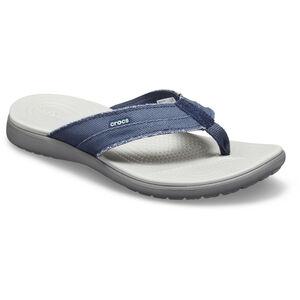 Crocs Santa Cruz Canvas Flip Sandals Herren navy/light grey navy/light grey