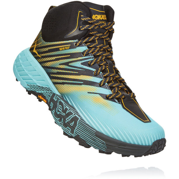 Hoka One One Speedgoat 2 GTX Mid-Cut Schuhe Damen antigua sand/golden rod