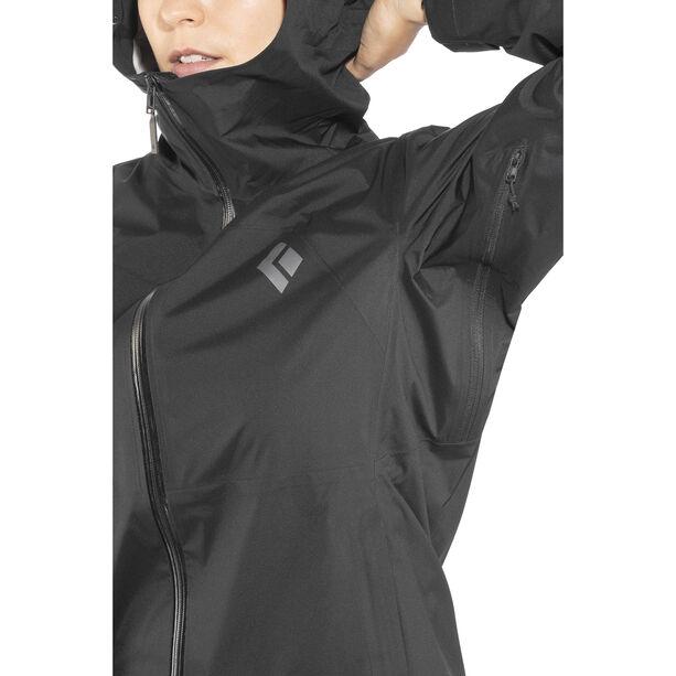 Black Diamond Stormline Stretch Rain Shell Jacket Damen black