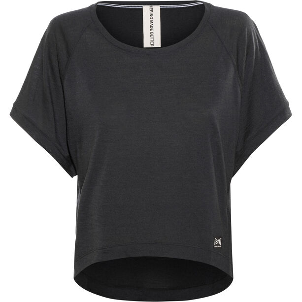 super.natural Motion Peyto Tee Damen jet black
