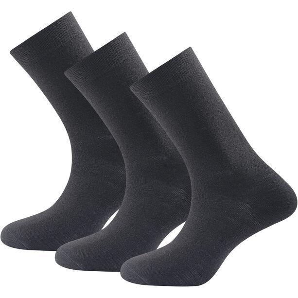 Devold Daily Light Socks 3-Pack Damen black