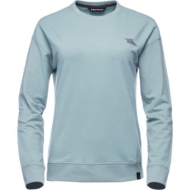 Black Diamond Ridge Logo Rundhals-Sweatshirt Damen blue ash