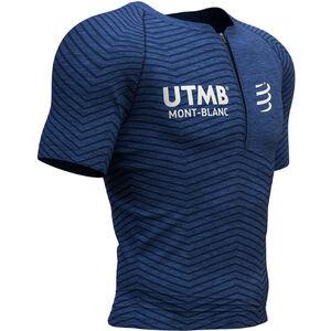 Compressport UltraTrail Postural UTMB 2019 Kurzarmtop blue blue