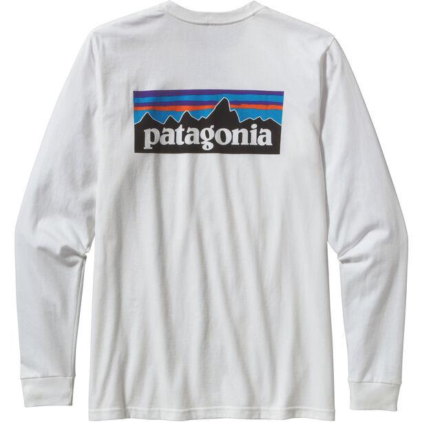 Patagonia P-6 Logo LS Responsibili-Tee Herren white