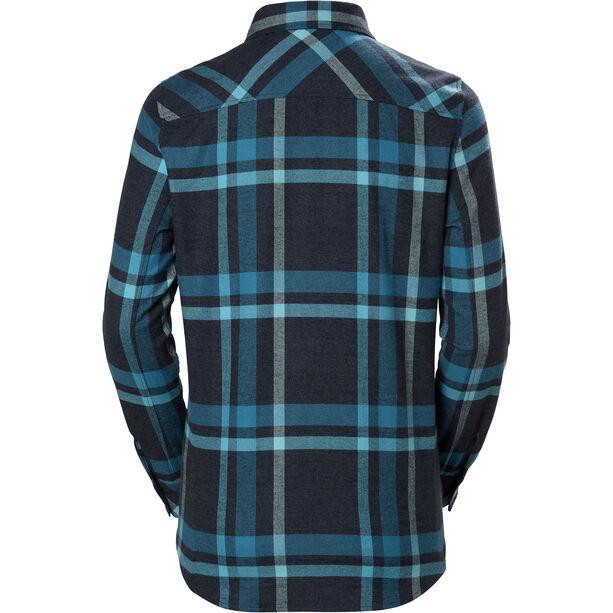 Helly Hansen Classic Check Langarm Shirt Damen north sea blue plaid