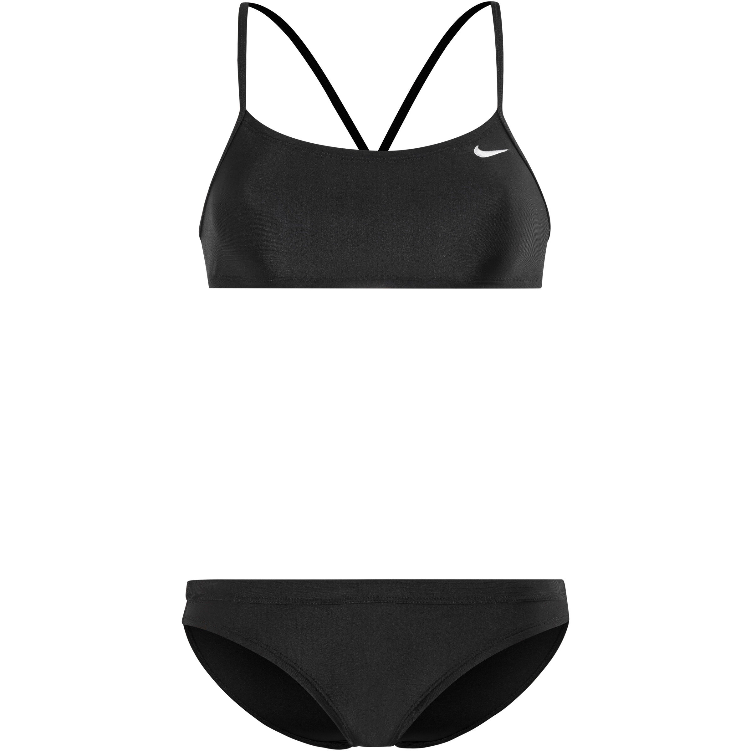 Racerback Bottom Nike TopSport Bikini blackblack Swim Solid Damen jqc4ARL35