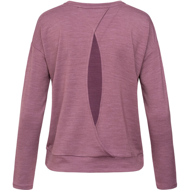 super.natural Jonser Sweater Damen berry conserve melange