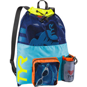 TYR Big Mesh Mummy Backpack blue/yellow blue/yellow