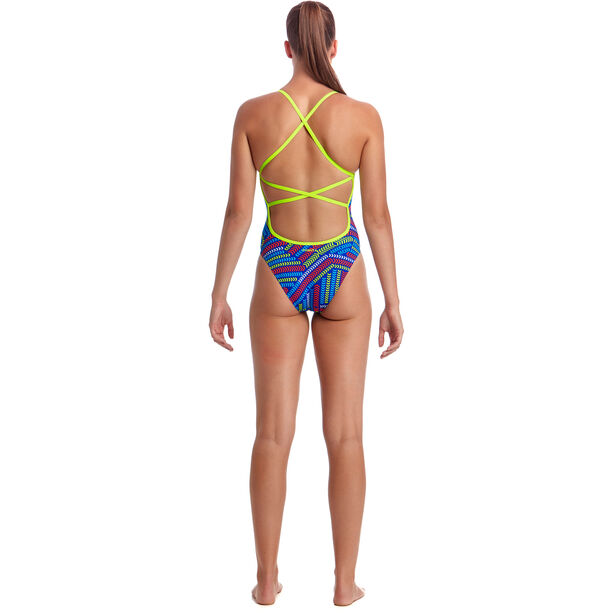 Funkita Strapped In One Piece Badeanzug Damen chain reaction
