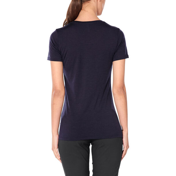 Icebreaker Tech Lite Snow Speedster Kurzarm Low Shirt Damen midnight navy