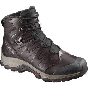 Salomon Quest GTX Winter Shoes Herren Black Coffee/Black/Red Dalhia Black Coffee/Black/Red Dalhia