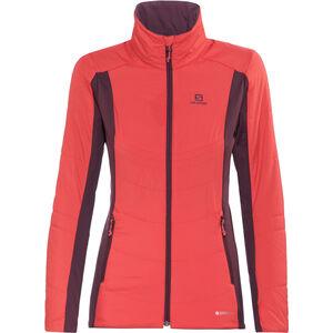 Salomon Drifter Mid Jacket Damen infrared/pinot noir infrared/pinot noir