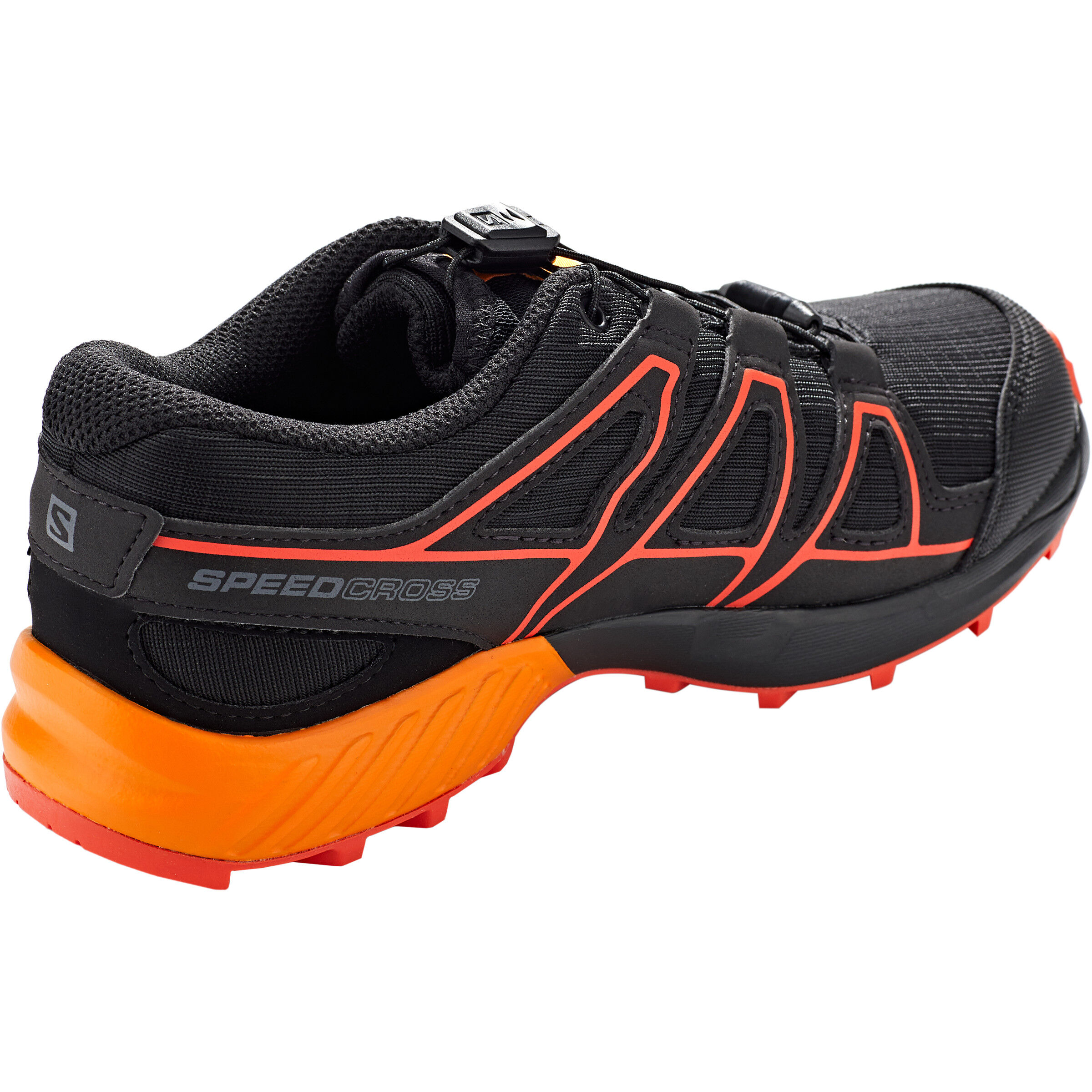 Salomon Speedcross CSWP Shoes Kinder blacktangelocherry tomato