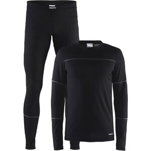 Craft Baselayer Set Herren black/granite black/granite