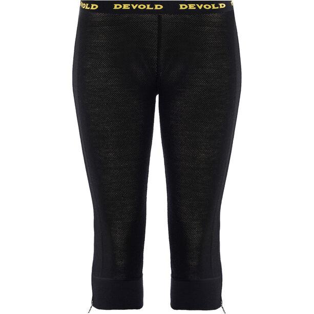 Devold Wool Mesh Zip-Off Capri Pants Damen black
