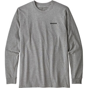 Patagonia P-6 Logo LS Responsibili-Tee Herren gravel heather gravel heather