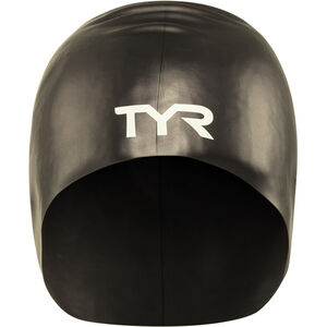 TYR Wrinkle-Free Long Hair Swimming Cap black
