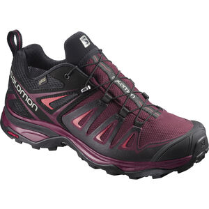 Salomon X Ultra 3 GTX Hiking Shoes Damen Tawny Port/Black/Living Coral