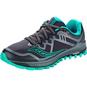 saucony Peregrine 8 GTX Shoes Damen black/grey/blue black/grey/blue
