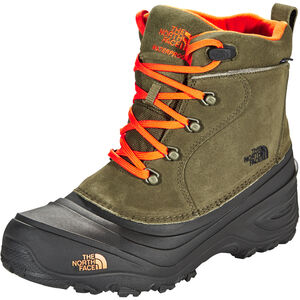 The North Face Chilkat Lace II Boots Kinder tarmac green/scarlet ibis