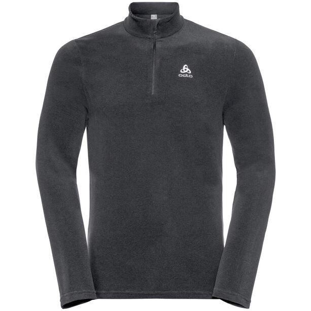 Odlo Roy 1/2 Zip Midlayer Herren shale grey-black stripes