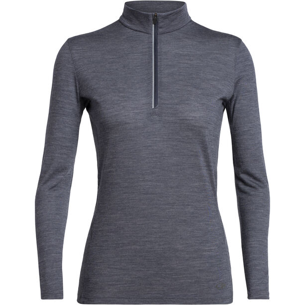 Icebreaker Amplify Langarm Half Zip Shirt Damen panther heather