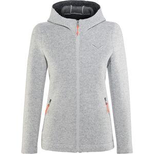 SALEWA Sarner 2 Layer Wool Full-Zip Hoodie Damen silver silver