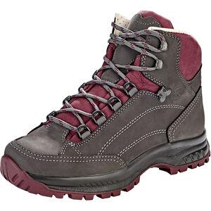 Hanwag Alta Bunion Shoes Damen asphalt/dark garnet asphalt/dark garnet