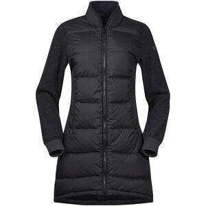 Bergans Oslo Down Hybrid Long Jacket Damen solidcharcoal/solidcharcoal mel solidcharcoal/solidcharcoal mel