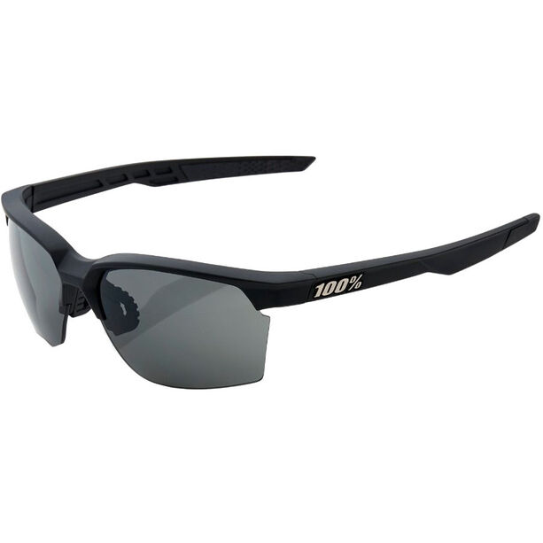100% Sportcoupe Smoke Glasses soft tact black