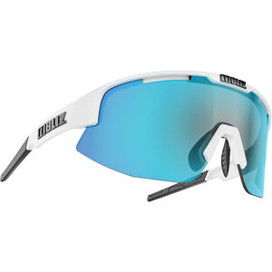 Bliz Matrix M12 Brille shiny white/smoke with blue multi shiny white/smoke with blue multi