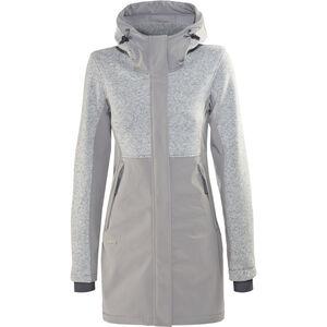 Bergans Flora Hybrid Coat Damen solid grey solid grey