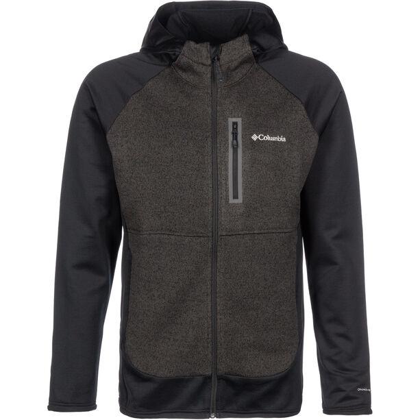 Columbia Altitude Aspect Hybrid Fleece Kapuzenjacke Herren black