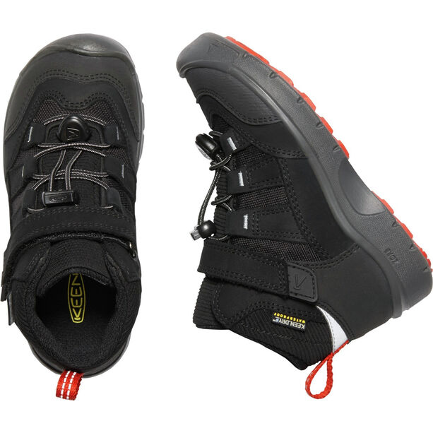 Keen Hikeport Mid WP Schuhe Kinder black/bright red