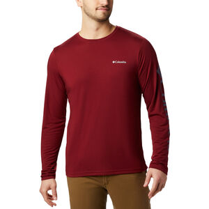 Columbia Miller Valley Langarm Graphic T-Shirt Herren red jasper/dark mountain red jasper/dark mountain