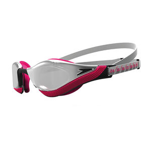 speedo Fastskin Pure Focus Mirror Schwimmbrille silver/psycho red/black/chrome silver/psycho red/black/chrome