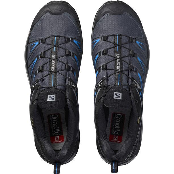 Salomon X Ultra 3 GTX Hiking Shoes Herren Black/India Ink/Hawaiian Surf