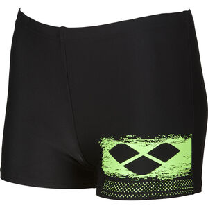 arena Scratchy Shorts Jungen black-shiny green black-shiny green
