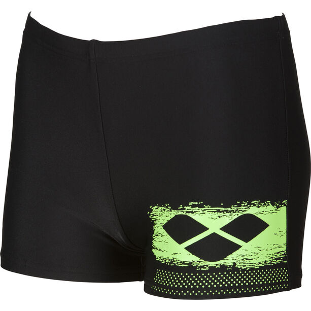 arena Scratchy Shorts Jungen black-shiny green