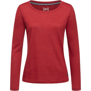 super.natural Essential Scoop Langarm Shirt Damen red dhalia melange red dhalia melange