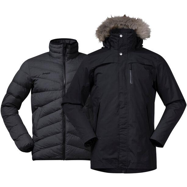 Bergans Sagene 3in1 Jacke Herren Black/Solid Charcoal