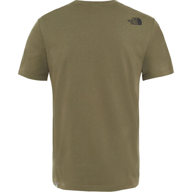 The North Face Fine Kurzarm T-Shirt Herren new taupe green